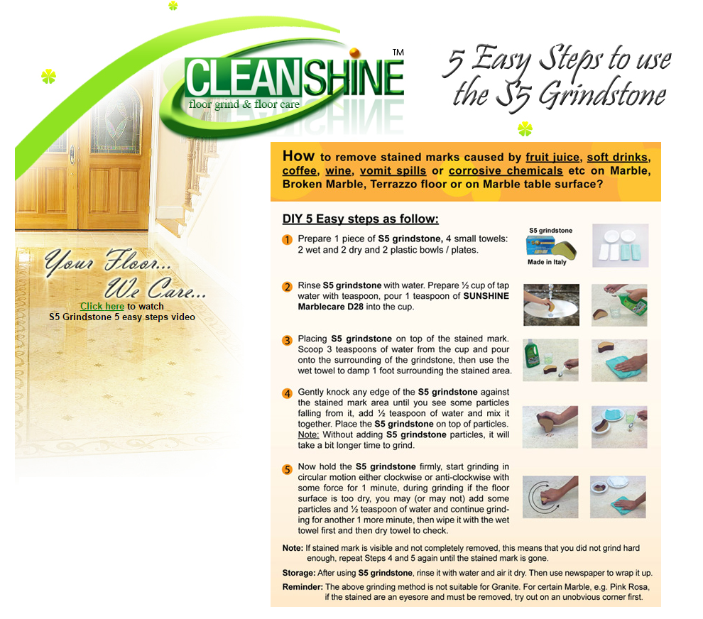 5 Easy Steps Instruction | CleanShine Group